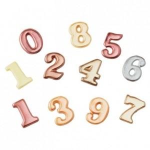 Moule 9 chiffres de 0 à 9 en PVC Thermoformé pour chocolat