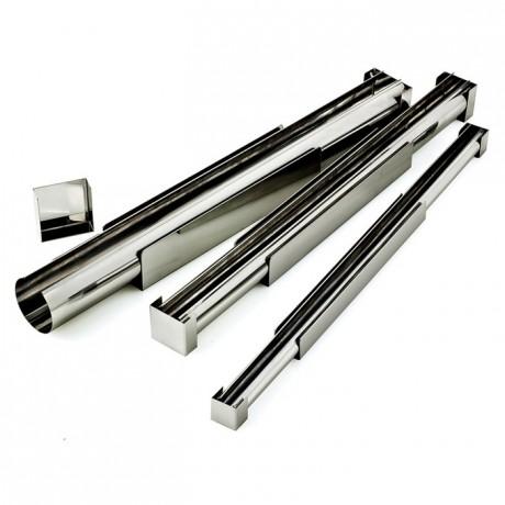 Finger yule-log frame stainless steel Ø 45 mm