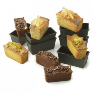 Moule à cake individuel 90 x 40 x 40 mm en Exoglass (lot de 6)