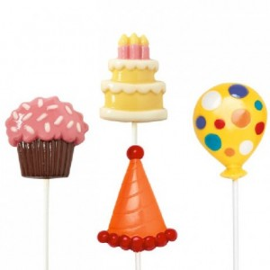 Moule à candy lollipop Wilton Birthday