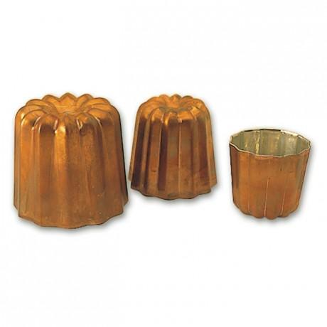 Moule à cannelé en cuivre Ø 35 mm H 35 mm
