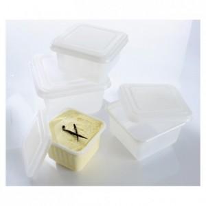 Moule à glace carré translucide avec couvercle 1 L (lot de 25)