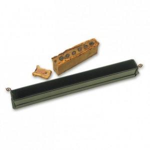 Moule à mini pâté en croûte uni 300 x 40 x 60 mm avec fond en Exopan