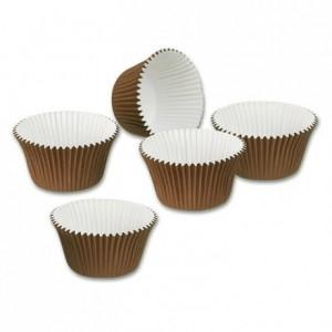 Moule à muffins marron/blanc Ø 75 x 40 mm (lot de 200)
