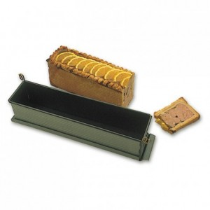 Long paté mould with clip with bottom Exopan 400 x 75 x 85 mm