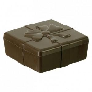 Moule boite carrée ruban en polycarbonate pour chocolat