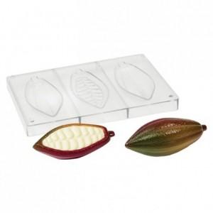 Moule cabosse de cacao en polycarbonate pour chocolat 140 x 23 x 13 mm
