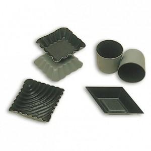 Streaked square mould Exopan 40 x 40 mm (25 pcs)