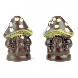 Chocolate mould polycarbonate 4 mushrooms