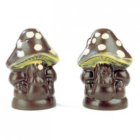 Moule champignon en polycarbonate pour chocolat