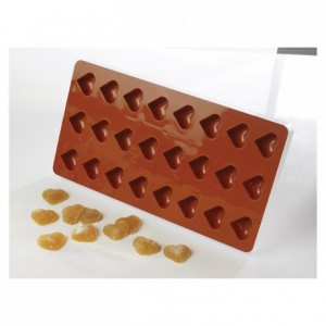 Moule flexible à pâte de fruit coeur Ø 30mm H 11 mm