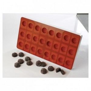 Raspberry jelly flexible moulds silicone Ø 30 mm H 24 mm