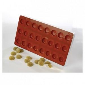Moule flexible à pâte de fruit palet rond Ø 34 mm H 18 mm