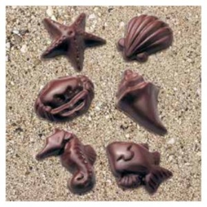 "Mould chocolate seafood ""Fruits de mer"" 6 shapes"