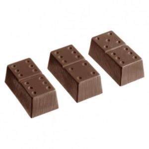 Moule jeu de 24 dominos en polycarbonate pour chocolat 275 x 135 mm