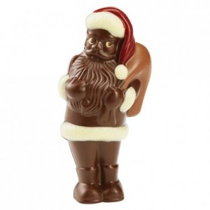 Moule Père Noël debout en polycarbonate pour chocolat