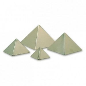 Moule pyramide 90 x 60 mm en inox (lot de 6)