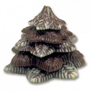 Chocolate mould polycarbonate textured christmas tree