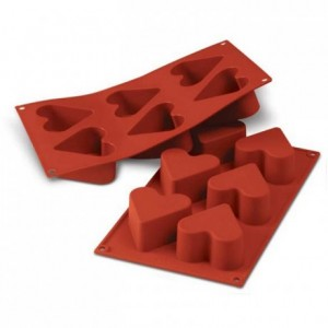 Hearts silicone mould Ø 65 mm