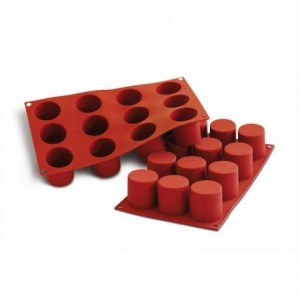 Cylinders silicone mould Ø 50 mm