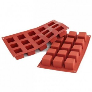 Cubes silicone mould 35 x 35 mm