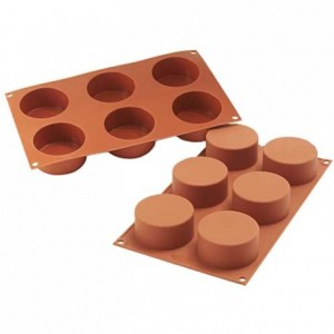 Cylinders silicone mould Ø 70 mm