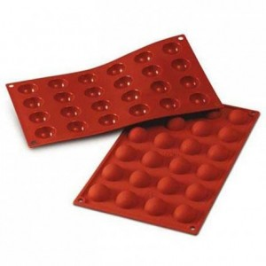 Half-spheres silicone mould Ø 30 mm