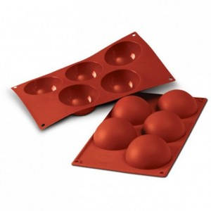 Half-sphere silicone mould Ø 80 mm