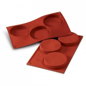 Discs silicone mould Ø 103 mm
