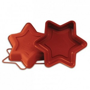 Star big silicone mould Ø 260 x 40 mm
