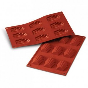 Moule silicone madeleines 68 x 45 mm