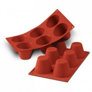 Moule silicone muffins grands hauts Ø 75 mm