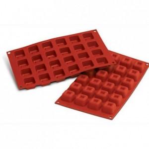 Moule silicone savarins carrés 35 x 35 mm