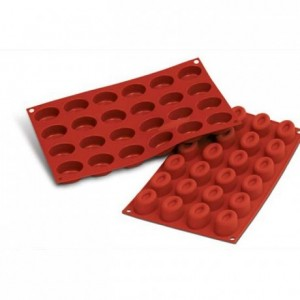 Moule silicone savarins ovales 44 x 32 mm