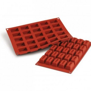 Moule silicone savarins rectangulaires 43,6 x 26 mm
