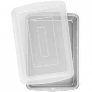 Wilton Recipe Right Oblong Pan with Cover 32,5x22,5x5cm