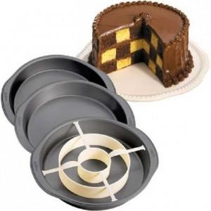 Moule Wilton Checkerboard Cake 4 pièces