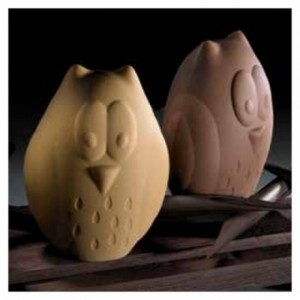 "Chocolate mould owl ""Hibou"" 30 cm"