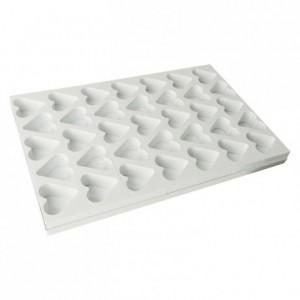35 heart cake multimould sheet 75 x 70 mm