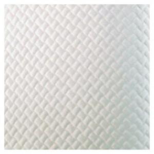 Nappe damassée blanche 80 x 80 cm (lot de 500)