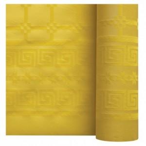 Nappe damassée citron 1,2 x 25 m