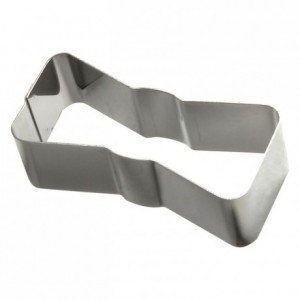 Bow tie stainless steel H30 92x40 mm (pack of 6)