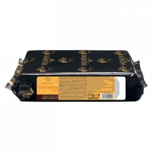Noir Orange 56% orange flavoured dark chocolate Gourmet Creation blocks 3 kg