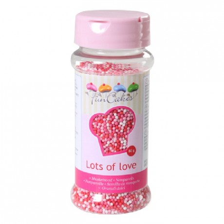 FunCakes Nonpareils Lots of Love 80g