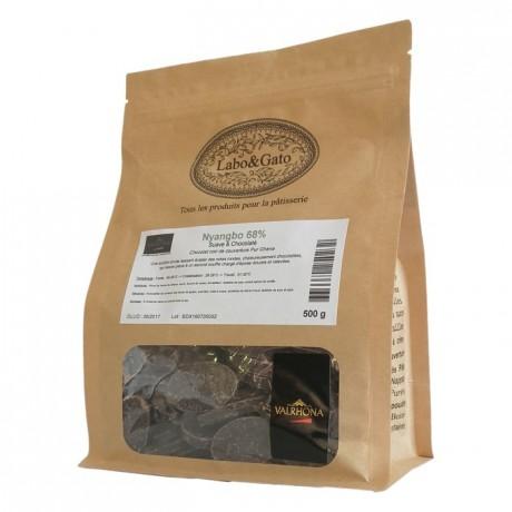Nyangbo 68% chocolat noir de couverture pur Ghana fèves 500 g