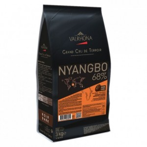 Nyangbo 68% chocolat noir de couverture pur Ghana fèves 3 kg