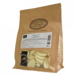 Opalys 33% chocolat blanc de couverture Création Gourmande fèves 500 g