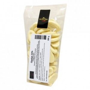 Opalys 33% chocolat blanc de couverture Création Gourmande fèves 200 g