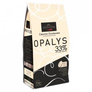 Opalys 33% chocolat blanc de couverture Création Gourmande fèves 3 kg