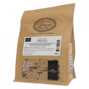 Orelys 35% chocolat blond au muscovado de couverture fèves 500 g